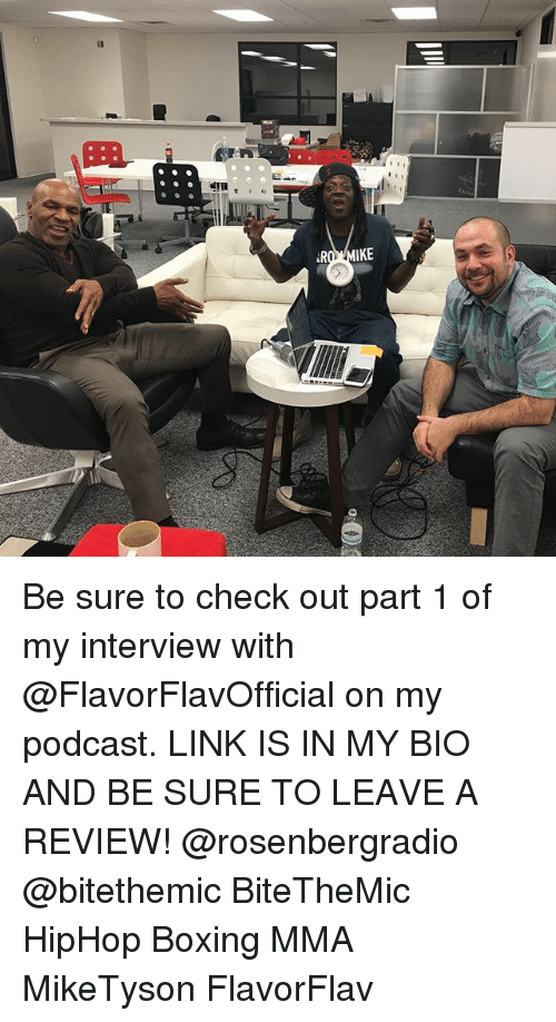 Boxing, Memes, and Link: Be sure to check out part 1 of my interview with @FlavorFlavOfficial on my podcast. LINK IS IN MY BIO AND BE SURE TO LEAVE A REVIEW! @rosenbergradio @bitethemic BiteTheMic HipHop Boxing MMA MikeTyson FlavorFlav