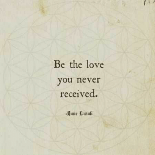 Love, Never, and You: Be the love  you never  received.  Ruue Eazuli