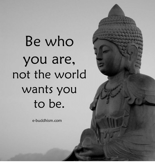 Memes, World, and Buddhism: Be who  you are,  not the world  wants you  to be.  e-buddhism com