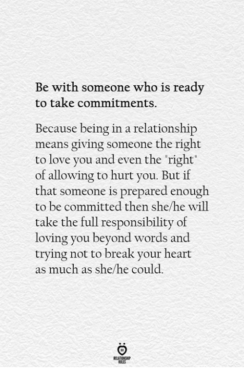 what does a break in a relationship mean