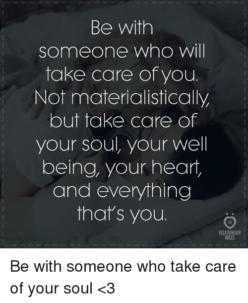 someone to take care of me