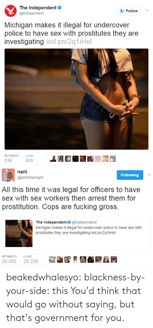 Tumblr, Blog, and Http: beakedwhalesyo: blackness-by-your-side: this   You'd think that would go without saying, but that's government for you.