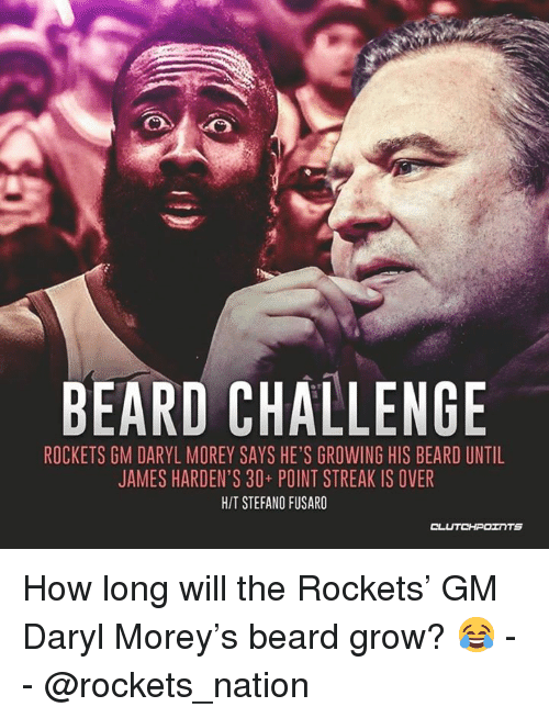 b4d14fa6441 BEARD CHALLENGE ROCKETS GM DARYL MOREY SAYS HE S GROWING HIS BEARD ...