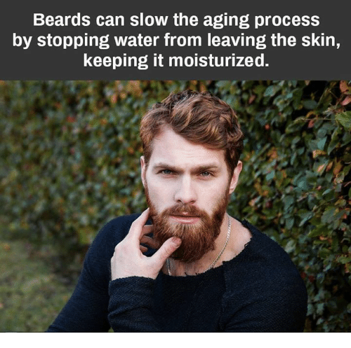 Beards Can Slow the Aging Process by Stopping Water From
