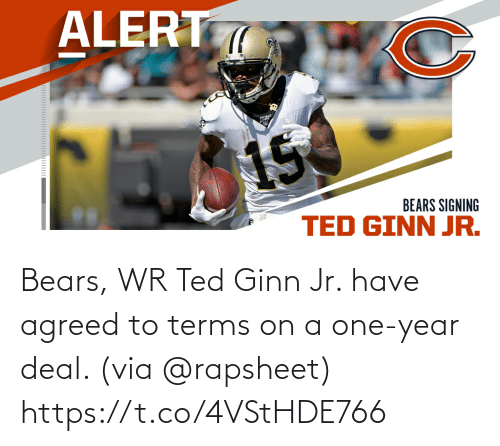 Memes, Ted, and Ted Ginn: Bears, WR Ted Ginn Jr. have agreed to terms on a one-year deal. (via @rapsheet) https://t.co/4VStHDE766