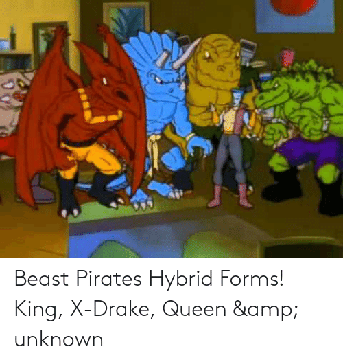 Drake, Queen, and Pirates: Beast Pirates Hybrid Forms! King, X-Drake, Queen & unknown