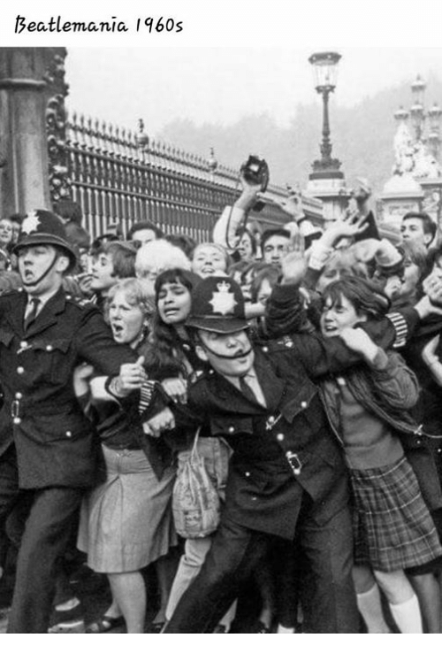 the beatlemania in the 1960s What made the beatles so big diagnosing 'beatlemania'  he kept his in a carefully sculpted quiff the only reason the beatles took him on in the first place, in august 1960, is because.