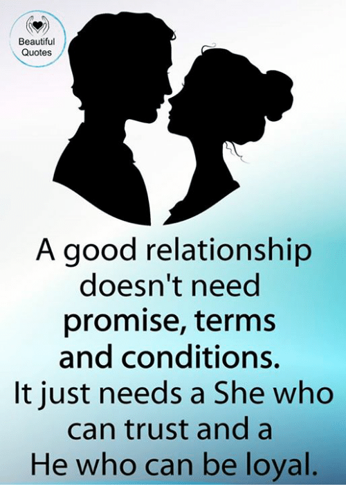 Good Relationship Quotes Enchanting Beautiful Quotes A Good Relationship Doesn't Need Promise Terms And
