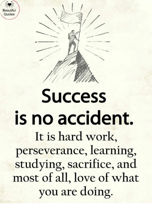 Beautiful Quotes Success Is No Accident It Is Hard Work Perseverance Beauteous Quotes About Success And Hard Work