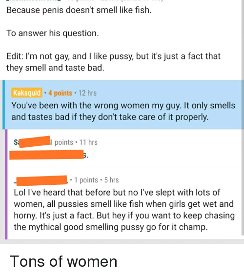 Why do women smell like fish