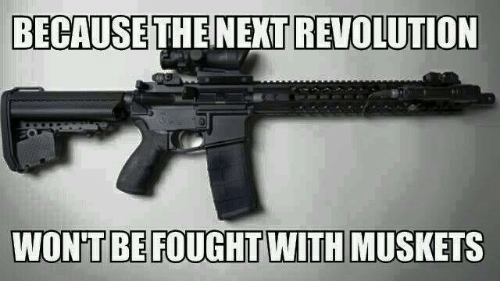 Memes, Revolution, and 🤖: BECAUSE  THENEXT REVOLUTION  WONT BE FOUGHT WITH MUSKETS