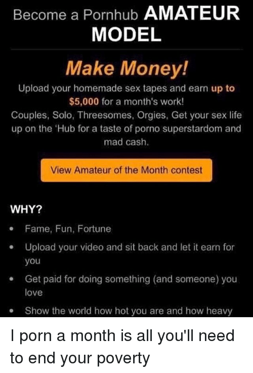 Porn Make money uploading