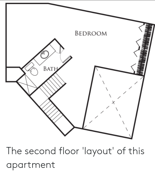 Bat This And Apartment Bedroom The Second Floor Layout Of
