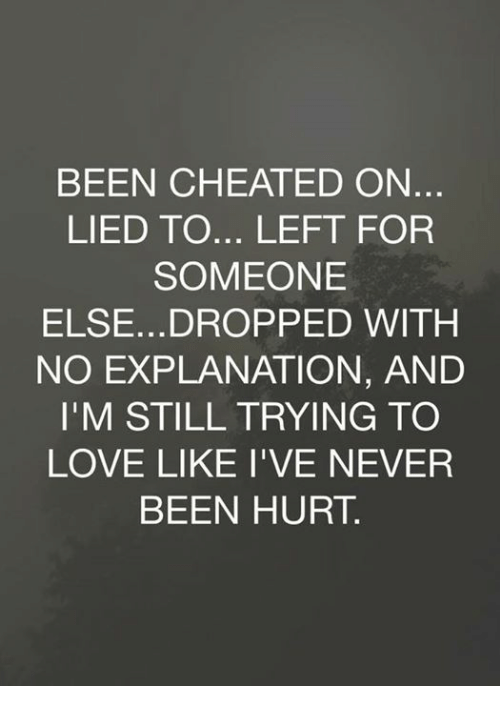 i ve been cheated on