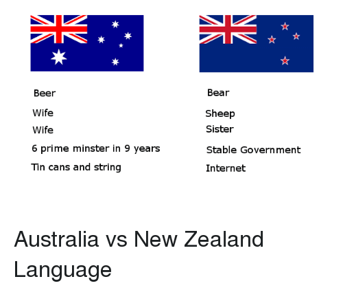 Beer Wife Wife 6 Prime Minster In 9 Years Tin Cans And String Bear Sheep Sister Stable Government Internet Australia Vs New Zealand Language Beer Meme On Me Me
