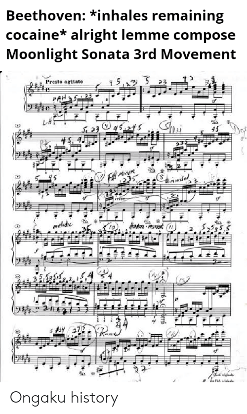 Beethoven *Inhales Remaining Cocaine* Alright Lemme Compose