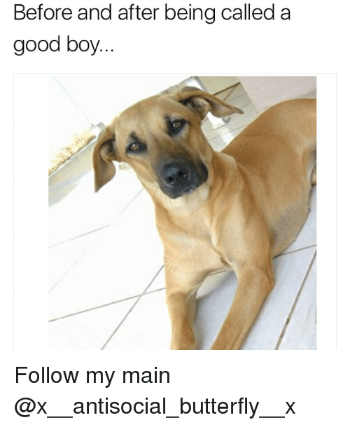 Being a good boy