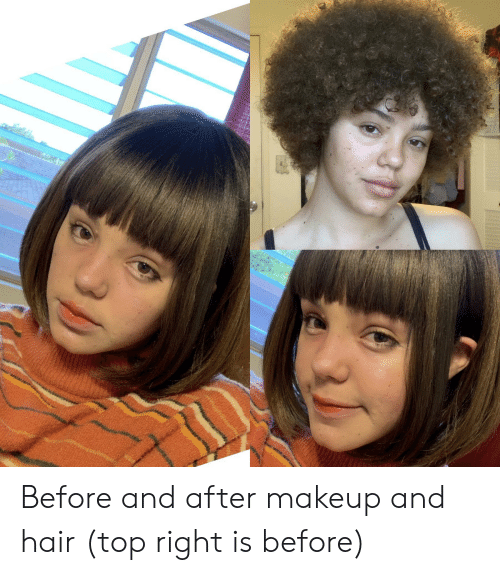 Makeup, Hair, and Before and After Makeup: Before and after makeup and hair