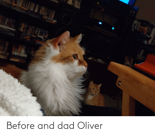 Dad, And, and Oliver: Before and dad Oliver