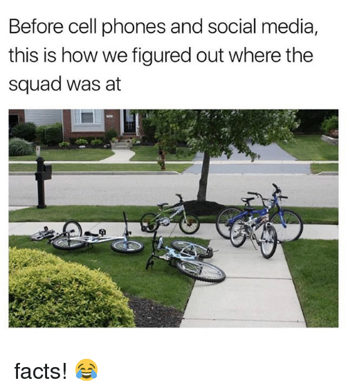 Facts, Memes, and Social Media: Before cell phones and social media,  this is how we figured out where the  squad was at  tf facts! 😂
