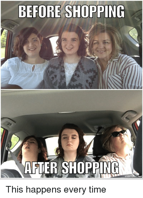 before shopping a after shopping mematic net funny meme on
