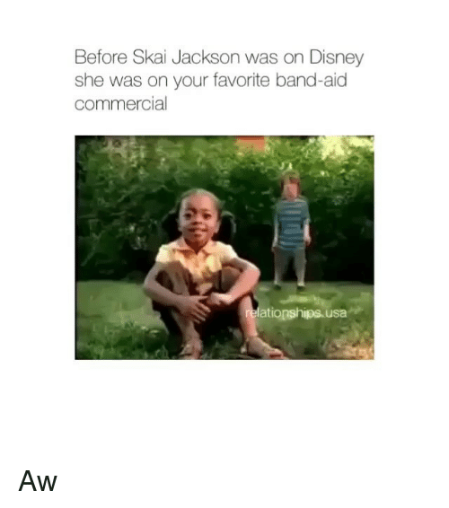 Disney, Band, and Usa: Before Skai Jackson was on Disney  she was on your favorite band-aid  commercial  ationships usa Aw