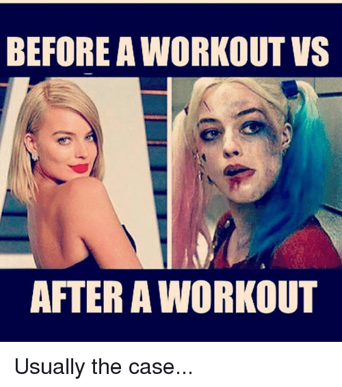 Case and Workout: BEFORE WORKOUT VS  AFTER A WORKOUT Usually the case...