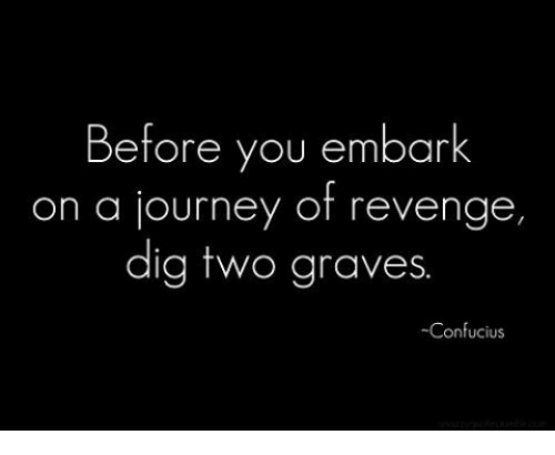 Before You Embark On A Journey Of Revenge Dig Two Graves Confucius Journey Meme On Me Me