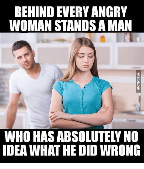 why men get angry with women