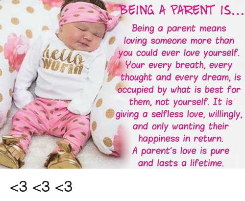 selfless love by parents Selfless love is not romantic like you might think  and there was not enough emotional resource for our parents to feel safe themselves.