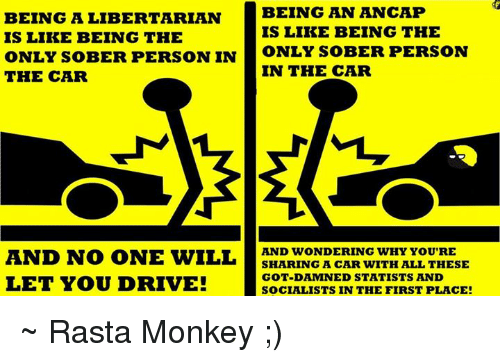 Being An Ancap Being A Libertarian Is Like Being The Is Like Being