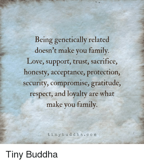 being genetically related doesnt make you family love support trust 13033142 being genetically related doesn't make you family love support