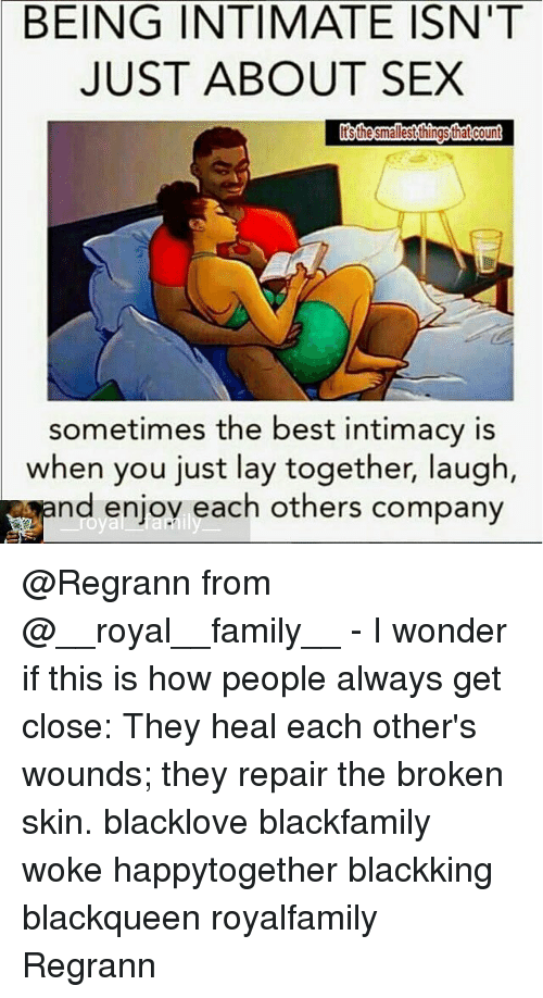Being intimate