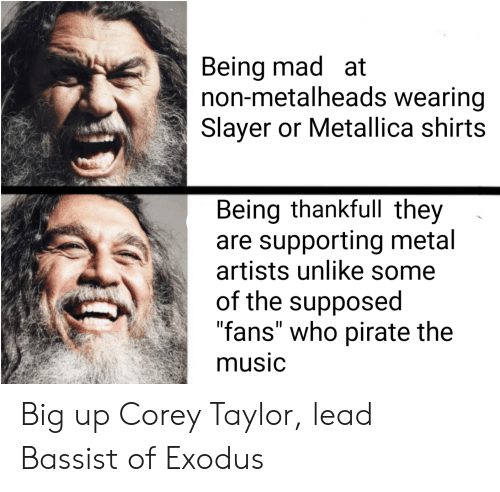 Being Mad at Non-Metalheads Wearing Slayer or Metallica Shirts Being