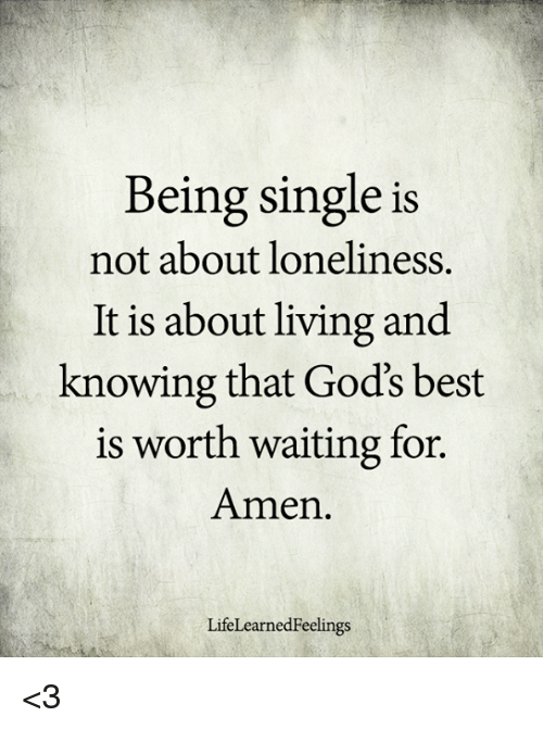 Why is being single associated with loneliness?