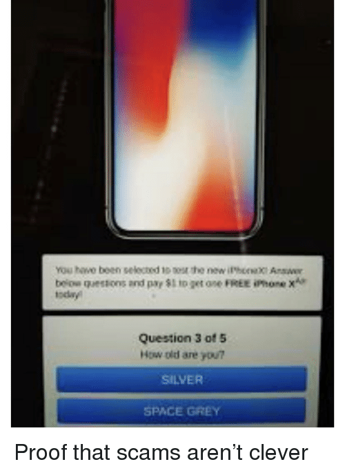 Beiow Questions and Payto Get One FREE iPhone X* Today Question 3 of