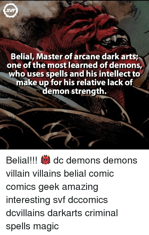 Belial Master of Arcane Dark Artsr One of the Most Learned