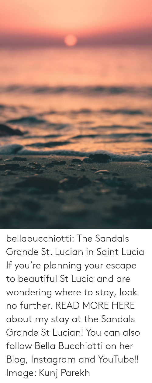Beautiful, Instagram, and Tumblr: bellabucchiotti: The Sandals Grande St. Lucian in Saint Lucia  If you're planning your escape to beautiful St Lucia and are wondering  where to stay, look no further. READ MORE HERE about my stay at the Sandals Grande St Lucian!   You can also follow Bella Bucchiotti on her Blog, Instagram and YouTube!! Image:    Kunj Parekh
