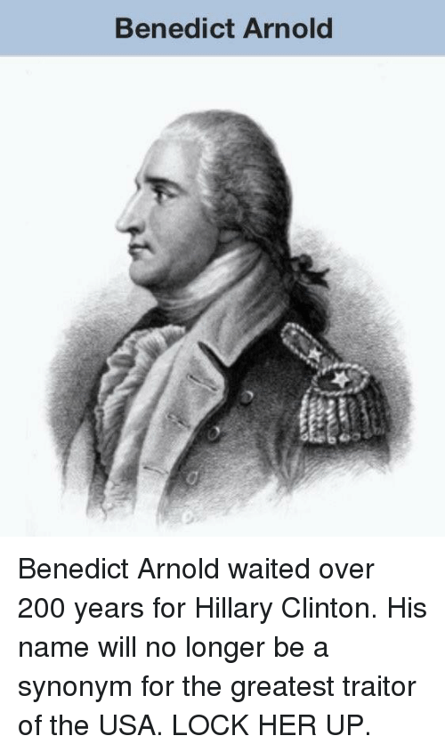 benedict arnold marked as a traitor essay