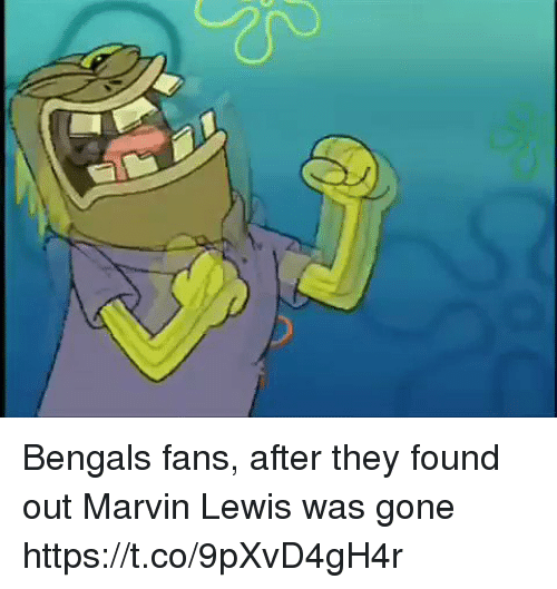 Sports, Bengals, and Gone: Bengals fans, after they found out Marvin Lewis was gone https://t.co/9pXvD4gH4r