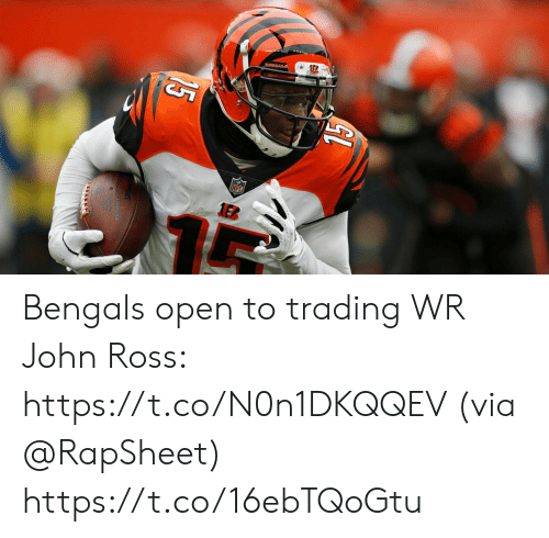 Memes, Bengals, and 🤖: Bengals open to trading WR John Ross: https://t.co/N0n1DKQQEV (via @RapSheet) https://t.co/16ebTQoGtu
