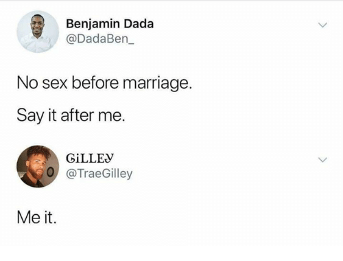 What do say before sex