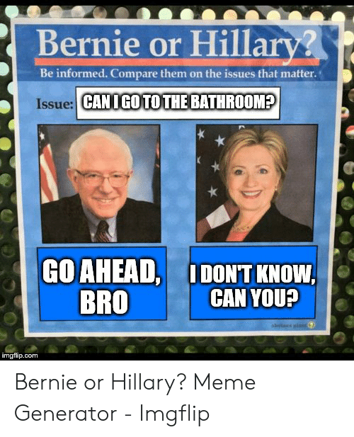 🔥 25+ Best Memes About Bernie vs Hillary Meme | Bernie vs