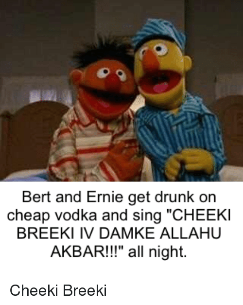 Bert And Ernie Get Drunk On Cheap Vodka And Sing Cheekl Breeki Iv