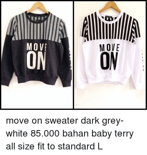 2ba6432d9dd6 BES ECO Move on Sweater Dark Grey- White 85000 Bahan Baby Terry All ...