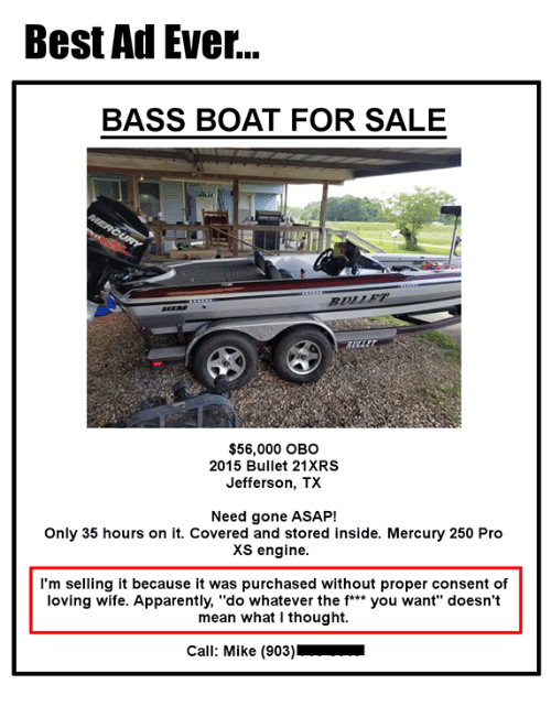 Opinion Bass boat owners are asshole be. You