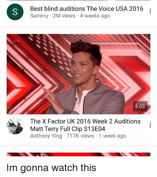 Best Blind Auditions the Voice USA 2016 Sammy 2M Views 4