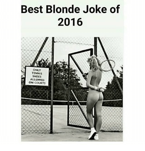Blonde Meme Tennis Shoes Only