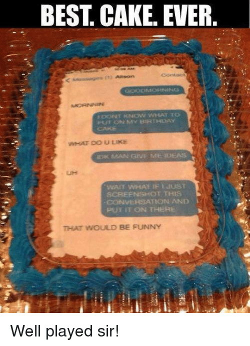 Best Cake Ever Gooom Opening Dont Know What To Put On My Birthday