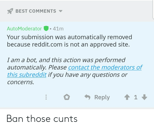 BEST COMMENTS AutoModerator-41m Your Submission Was